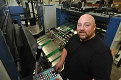 One of the Offset Printing Experts at Thomson-shore.
