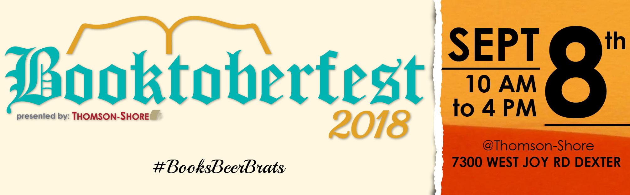 Booktoberfest September 8, 2018