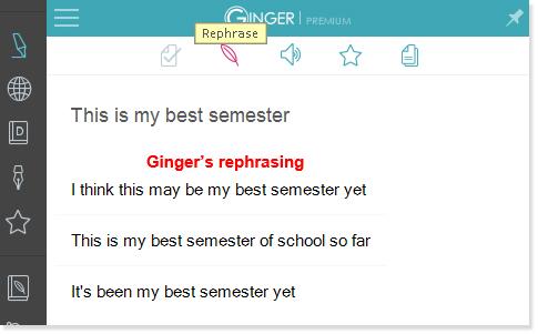Ginger Rephraser